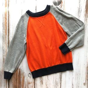 Children's Place orange and gray sweater 5/6